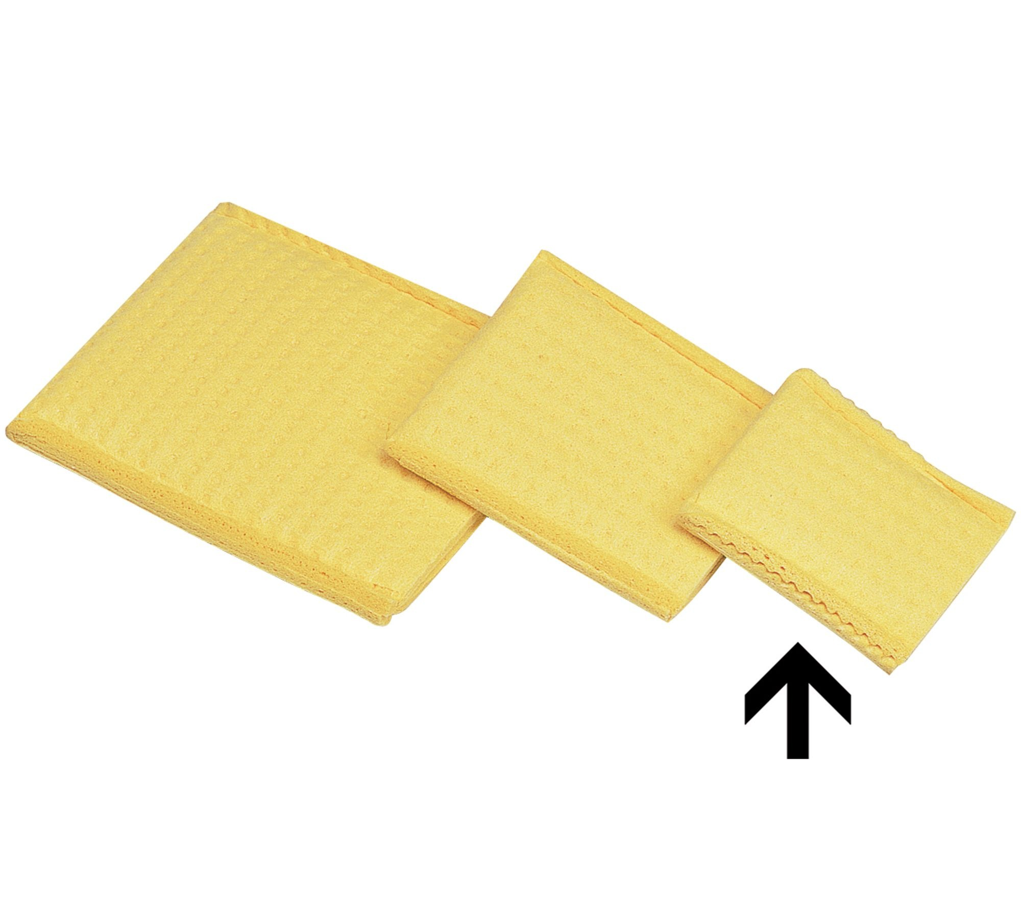 Прокладки увлажняемые вискозные желтые, 4х6 см, 6х8 см, 8х12 см